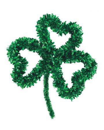 St. Patricks Day Lametta Kleeblatt Deko