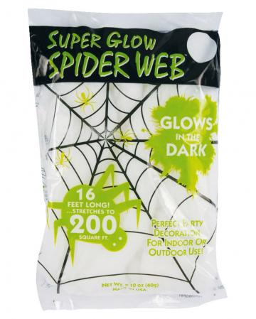 Glow in the Dark Spinnennetz 60gr.