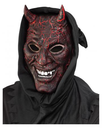 Glühende Teufelsmaske mit Lichteffekt