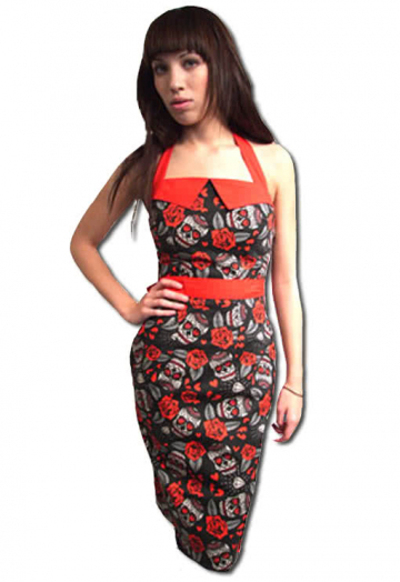 Rockabilly Dress in trendy tattoo style