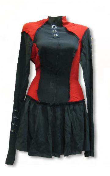 Punk dress in rags look