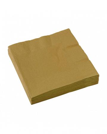 Golden napkins 20 pieces