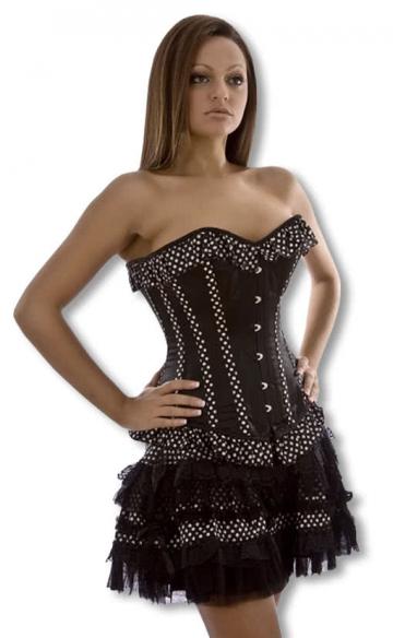 Gothic Mini Skirt With Polkadots