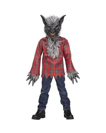 Grauer Werwolf Kinderkostüm
