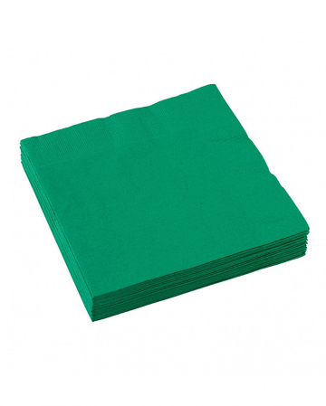 Green napkins 20 pcs
