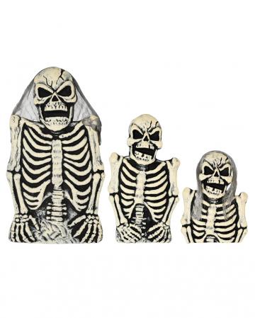 3-piece Skeleton Tombstone Set
