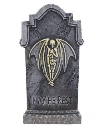 Halloween Grabstein Skelett Engel