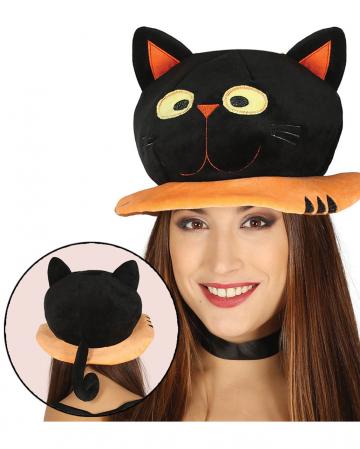 Halloween Hut schwarze Katze