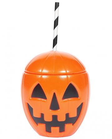 Pumpkin mug with lid