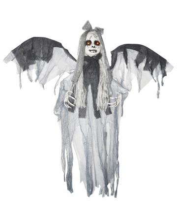Hanging Girl With Wings Halloween Animatronic