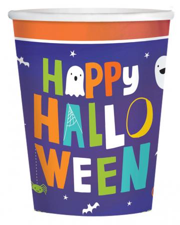 8 Happy Halloween Pappbecher