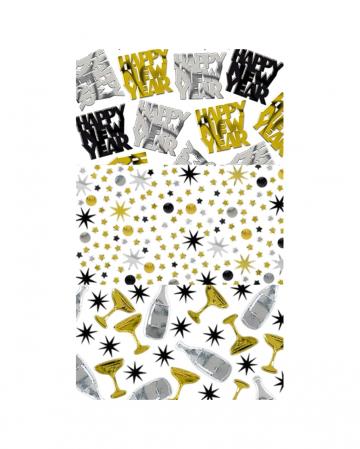 Happy New Year Metallic Confetti