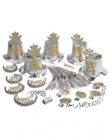Happy New Year Party Set Silver 21 Pcs.