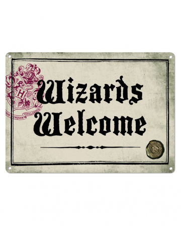 Harry Potter Wizards Welcome Metal Sign DIN A5