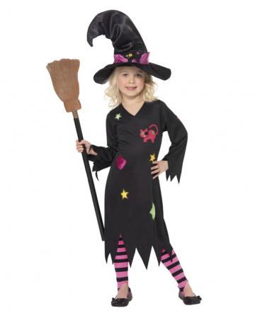 Süße Halloween Hexe Kinderkostüm