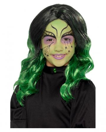 Witches Children Wig Black-green
