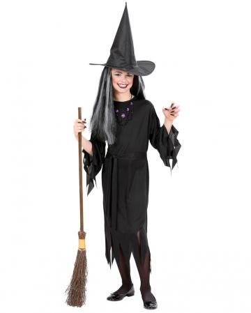 Hexen Kinderkostüm mit Hut & Gürtel