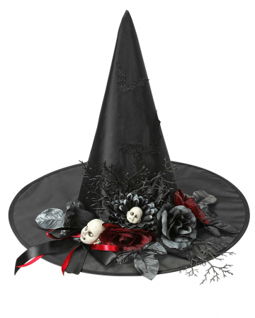 Witch Hat With Bats & Doll Heads