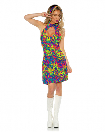 Hippie Neckholder Costume Dress Glow