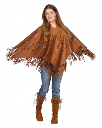 Hippie Poncho With Fringes