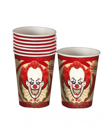 Horror Clown Party Mug 8 Pieces
