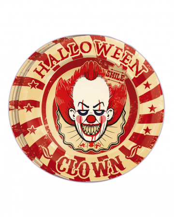 Horror Clown Party Plate 8 Pieces