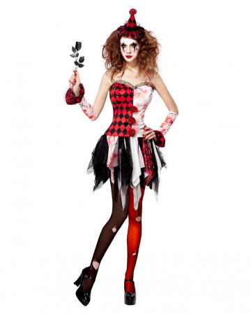 Horror Harlequin Ladies Costume