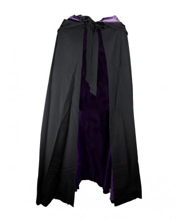 Kapuzenumhang Schwarz-Violett