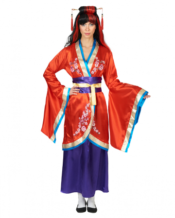 3-tlg. Kimono Kostüm mit Gürtel