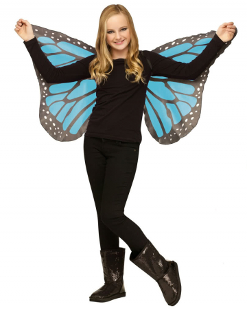 Children turquoise butterfly wings