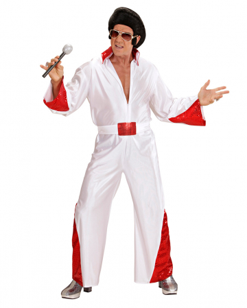 King Of Rock Costume With Red Glitter XL