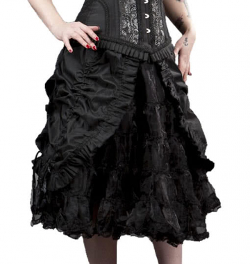 Gathered knee length skirt