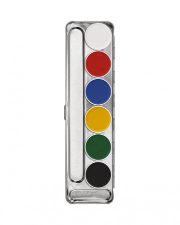 Kryolan Aquacolor Schminkpalette mit 6 Farben