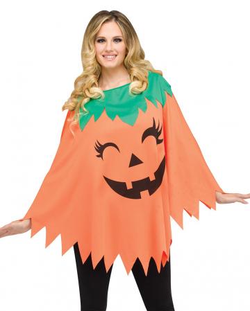 Halloween Kürbis Poncho One Size