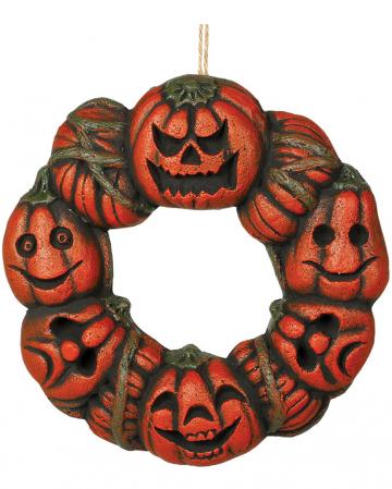 Pumpkin Door Wreath Decoration 35cm