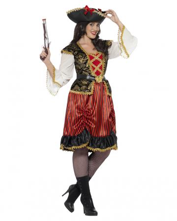 Kurvige Piraten Lady Plus Size Kostüm