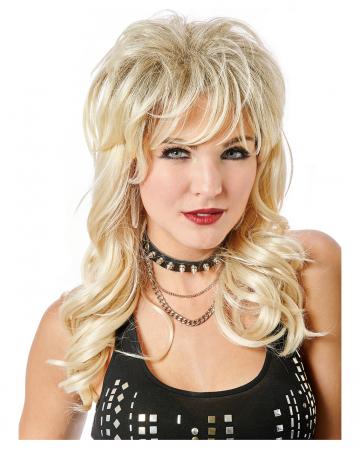 Lady Rocker Perücke Blond