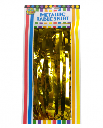 Tinsel Table Skirt Gold