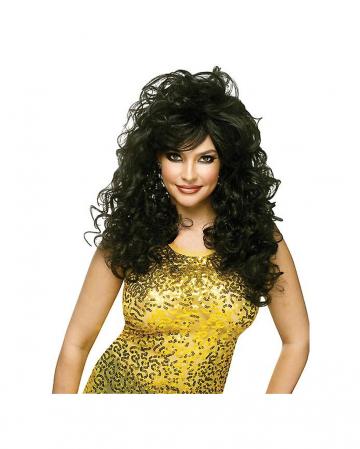 Curly Long Hair Wig Black