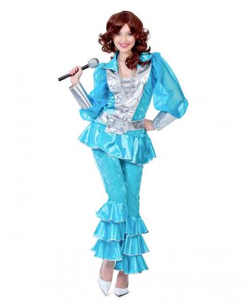 Mama Mia 70s Kostüm Deluxe türkis