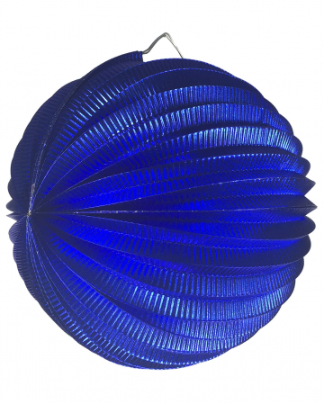 Metallic balloon lantern blue 25 cm