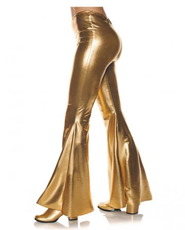 Metallic Schlaghose Gold