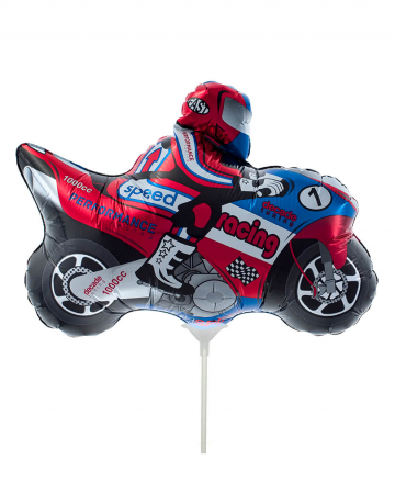 Mini foil balloon motorcycle
