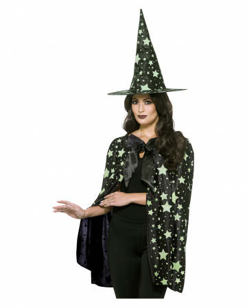 Midnight Witch Cloak With Hat