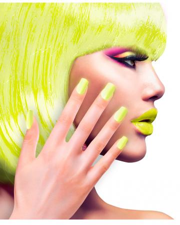 Neon Airbrush Fingernails Neon Yellow