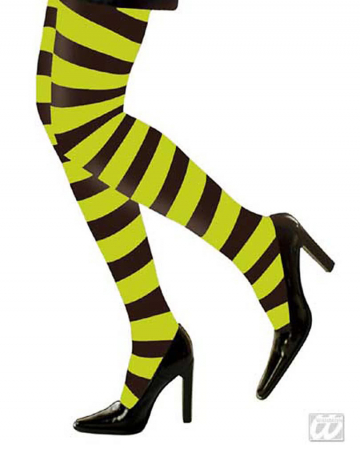 Neon tights striped green