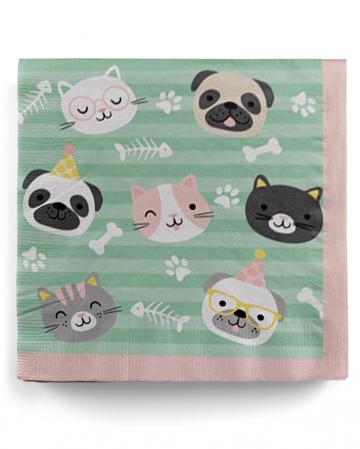 Cute Animals Napkins 33cm 20 Pcs.