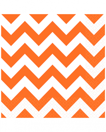 Orange Zig-zag Napkins 20 Pcs.
