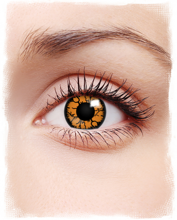 Contact Lenses Orange Reptile
