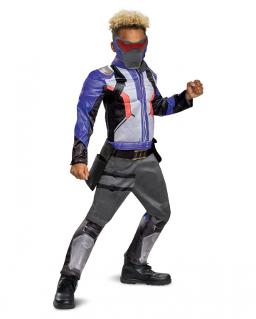Overwatch Soldier 76 Children Muscle Costume